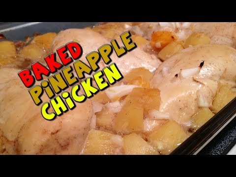 Healthy Baked Pineapple CHICKEN Recipe (Bodybuilding)