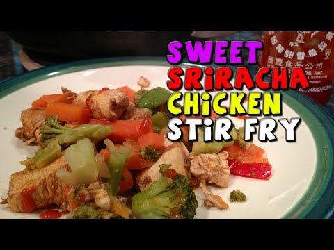 Sweet Sriracha CHICKEN Stir Fry Recipe (Healthy/Bodybuilding)