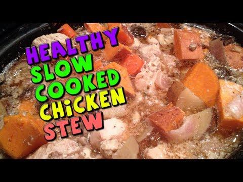 Healthy Slow Cooked CHICKEN Stew Recipe (Bodybuilding/High Protein)
