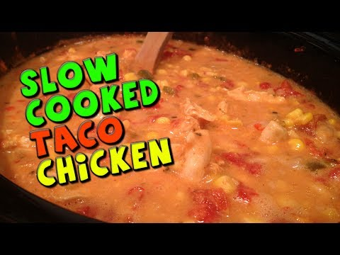 Slow Cooked TACO Chicken Recipe (Low Fat)