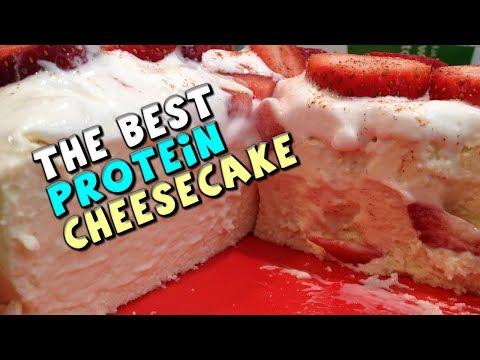 The Best PROTEIN Cheesecake Recipe! (135g Protein, 11g Fat)