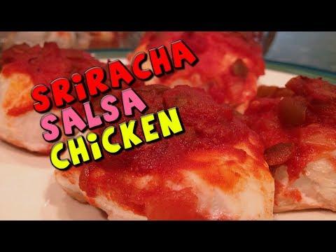 Healthy Sriracha Salsa CHICKEN Recipe (Quick + Cheap)