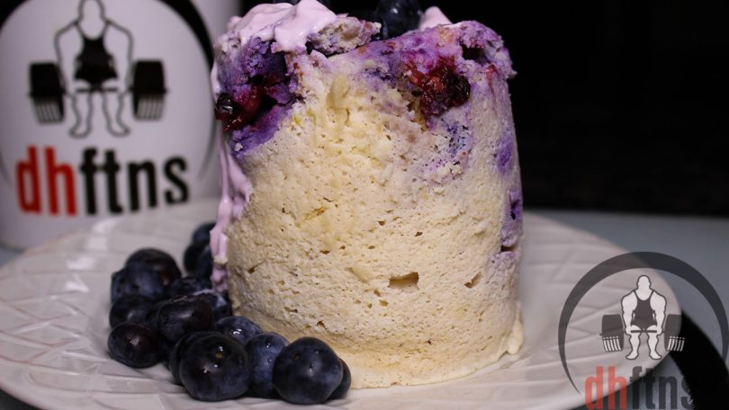 Microwave Blueberry Protein Mug Cake Recipe