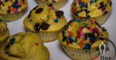 Birthday Cake Protein Muffins Recipe