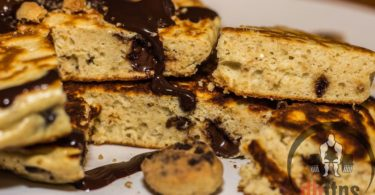 Chocolate Chip Cookie Dough Protein Pancakes Recipe
