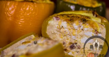 Omelette Stuffed Bell Peppers Recipe