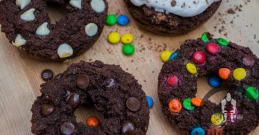 Healthy Triple Chocolate Protein Doughnuts Recipe