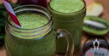 Apple Kiwi Green Energy Smoothie Recipe