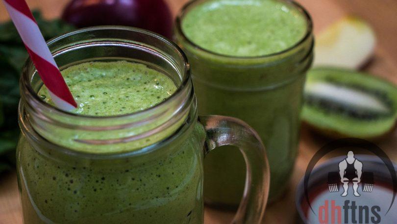 Apple Kiwi Green Energy Smoothie Recipe
