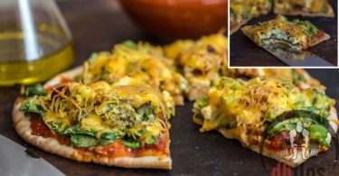 Healthy Breakfast Pita Pizza Recipe