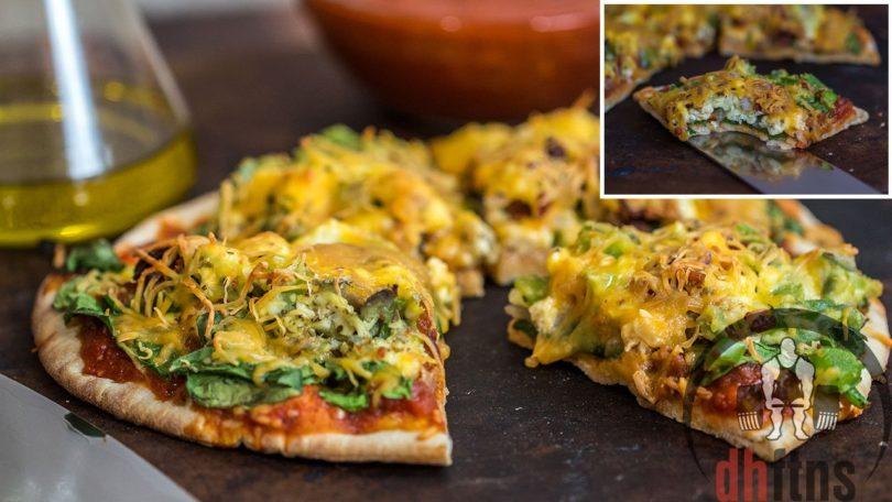 Healthy Breakfast Pita Pizza Recipe