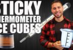 Sticky Thermometer Ice Cubes