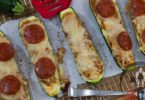 Low Carb Pizza Zucchini Boats Recipe