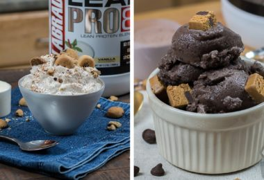 Chocolate & Vanilla Protein Ice Cream Recipe