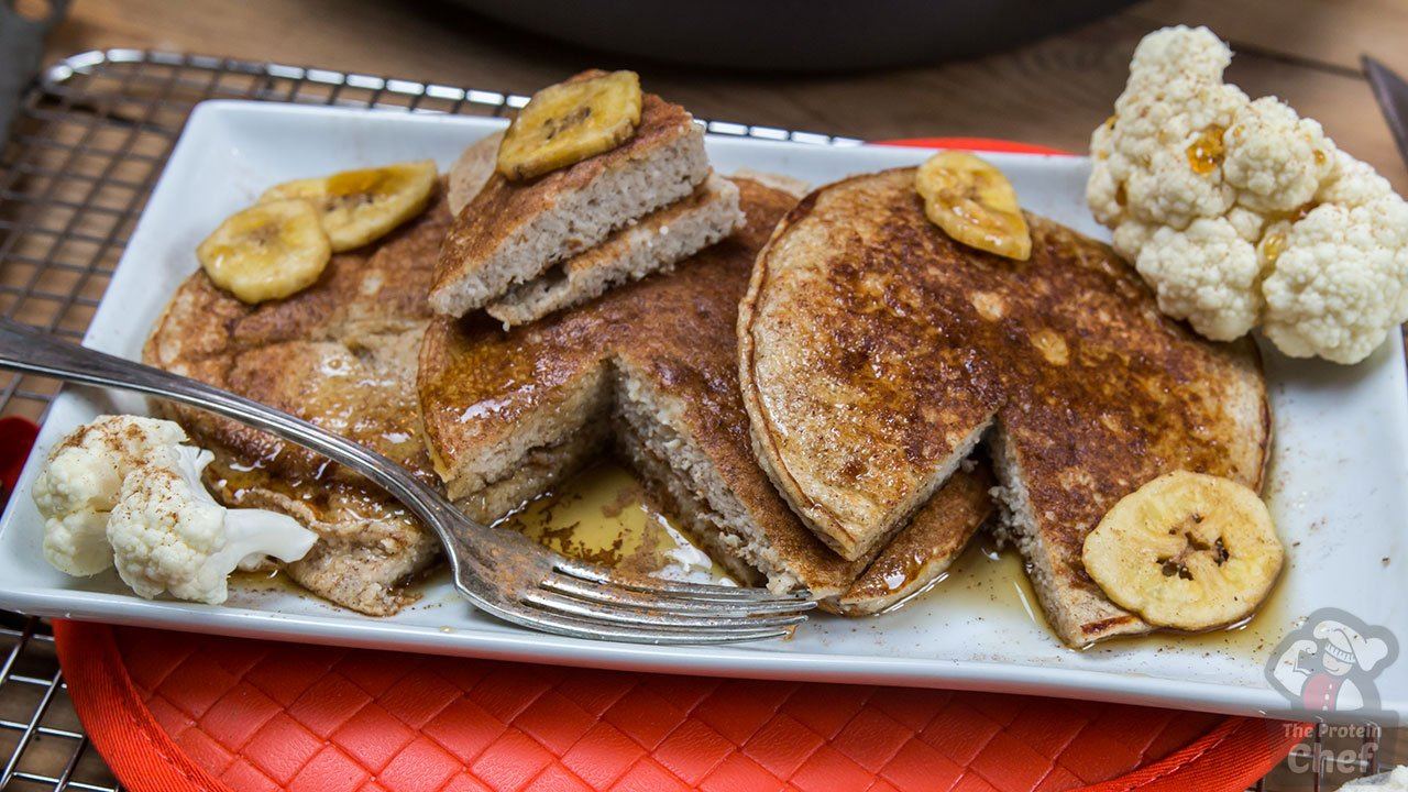 Protein Cake Recipe Low Carb: The BEST Cauliflower PROTEIN Pancakes Recipe
