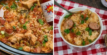 Easy Protein Packed SLOW COOKER Jambalaya Recipe