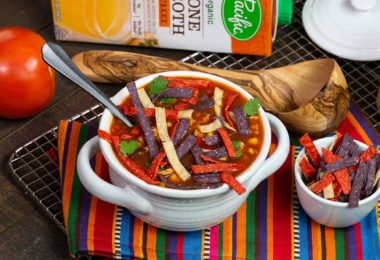 Delicious SLOW COOKER Turkey Tortilla Soup Recipe