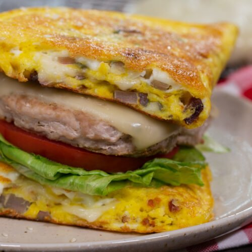 Keto Omelette Cheeseburgers Recipe